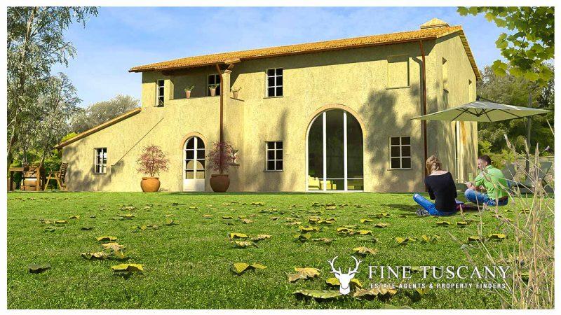 2 farmhouses for sale in Montefoscoli Palaia Tuscany Italy