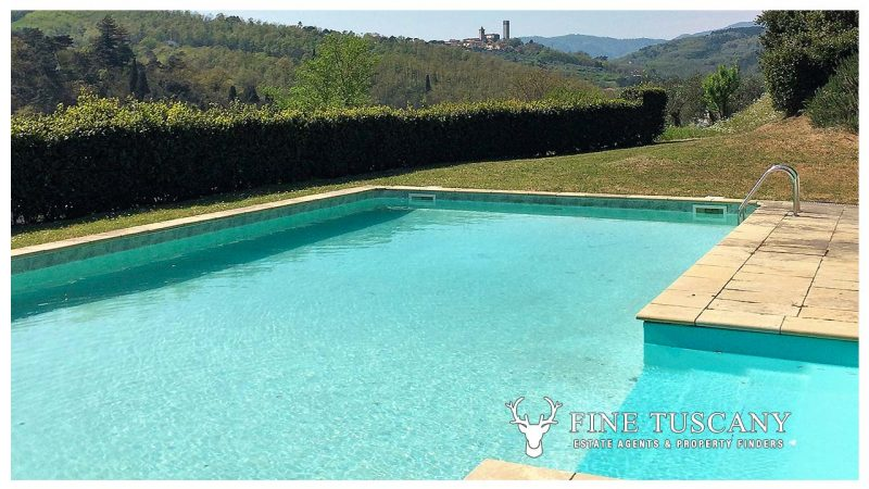 Period villa with swimming pool for sale in Serravalle Pistoiese Pistoia Tuscany - Swimming Pool