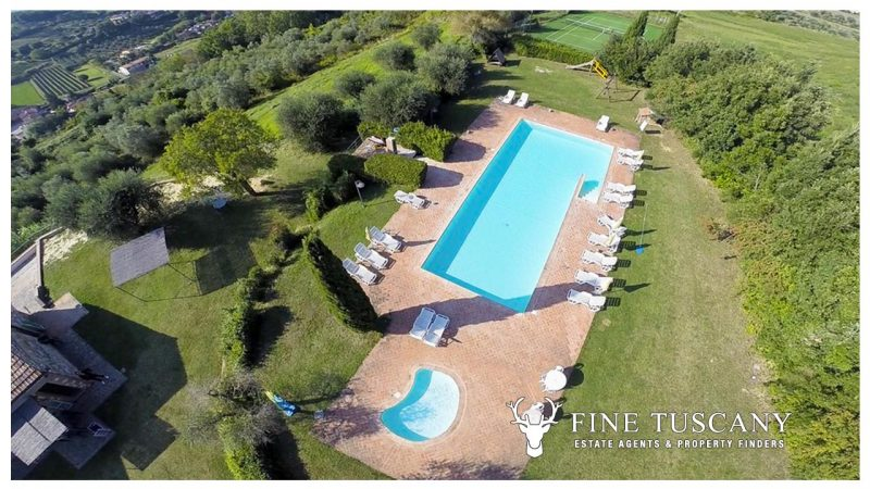 Apartment with shared pool for sale near Montaione, Florence, Tuscany
