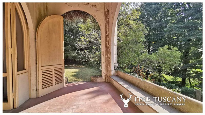 Period Villa with Outbuilding for sale in Bagni di Lucca Tuscany Italy