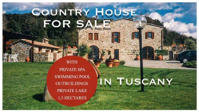 Country House with Swimming Pool and Outbuildings for sale in Campagnatico Grosseto Maremma Tuscany Italy