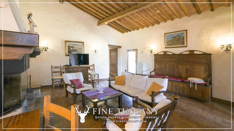 Stone Farmhouse with land for sale between Siena and Grosseto Tuscany Italy